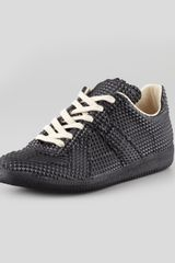Maison Martin Margiela Pyramid Studded Leather Sneaker - Lyst
