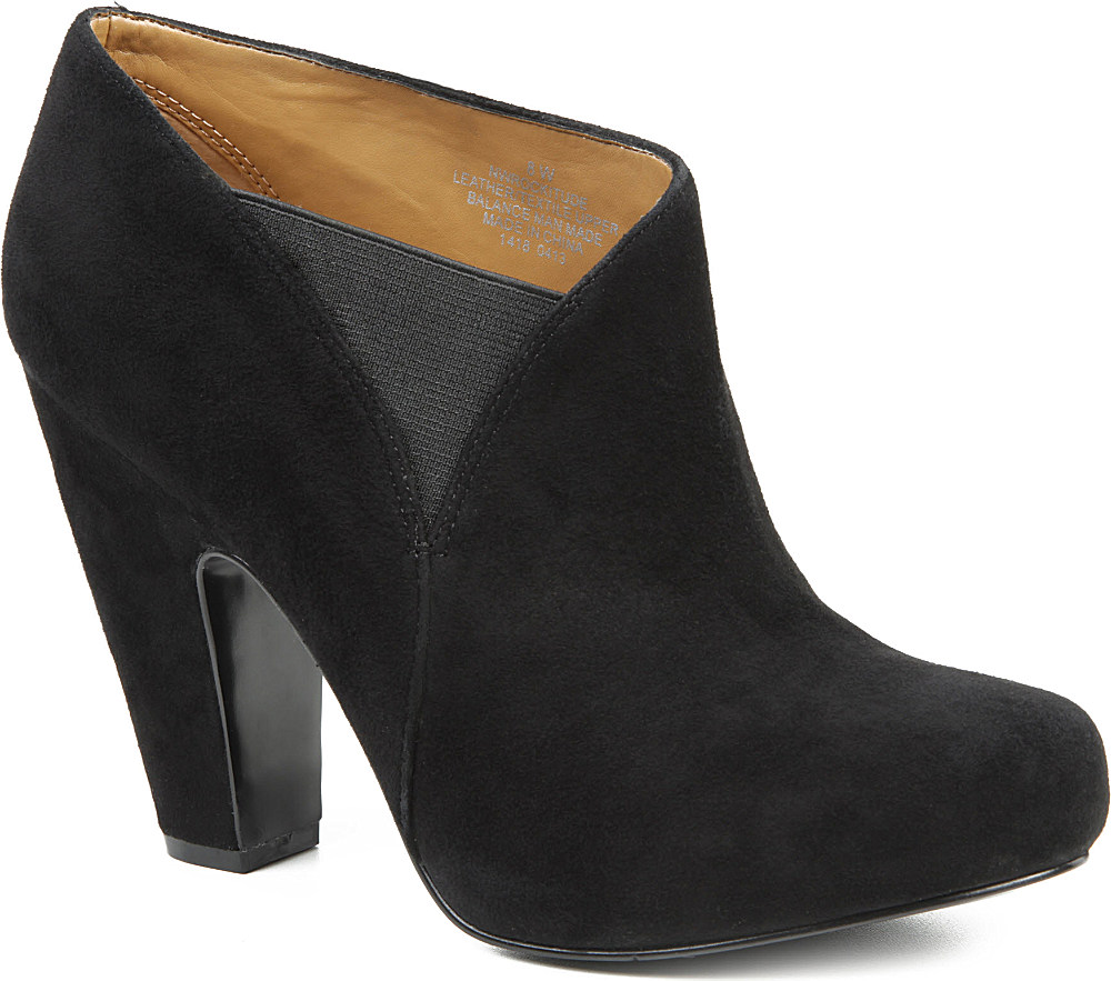 nine west rockitude suede ankle boots in black lyst