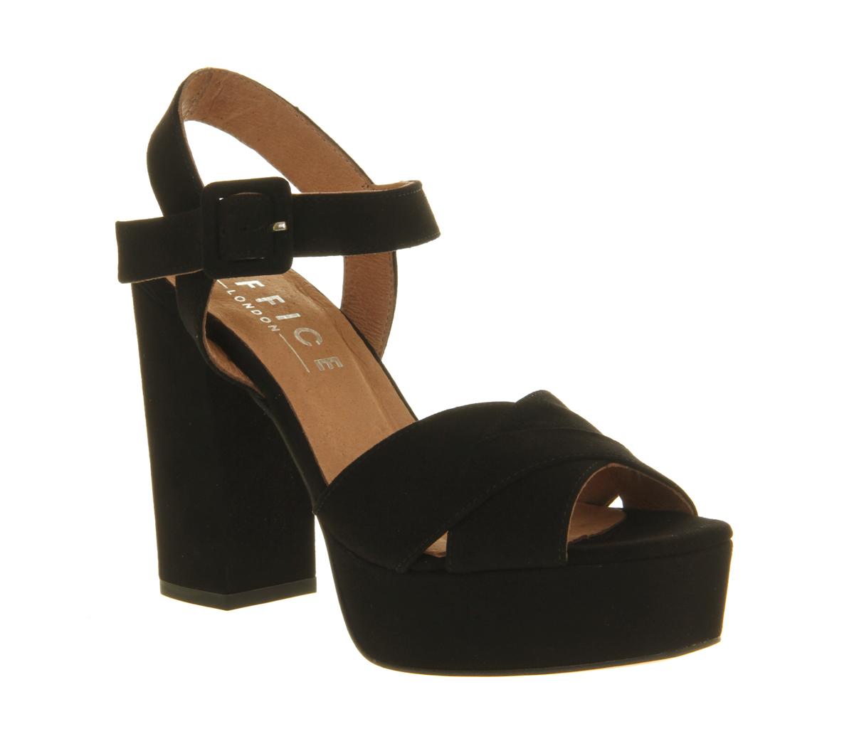 Office Onward Platform Sandal in Black | Lyst