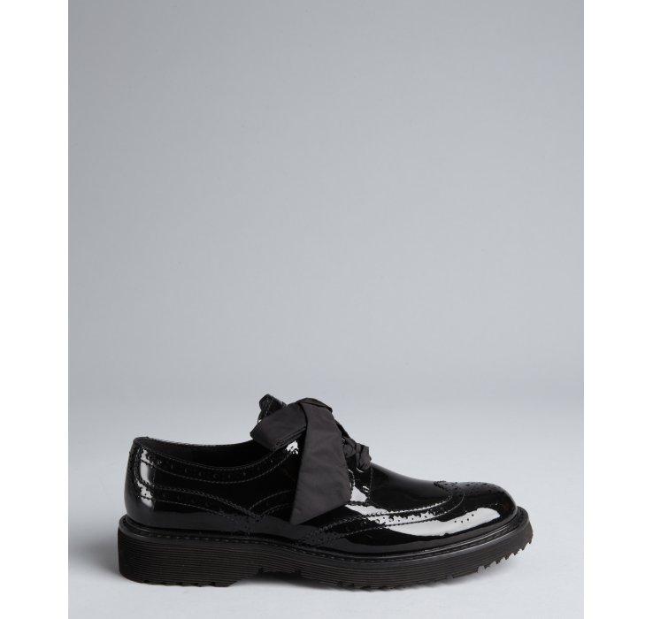 Prada Prada Sport Black Patent Leather Chunky Sole Wingtip