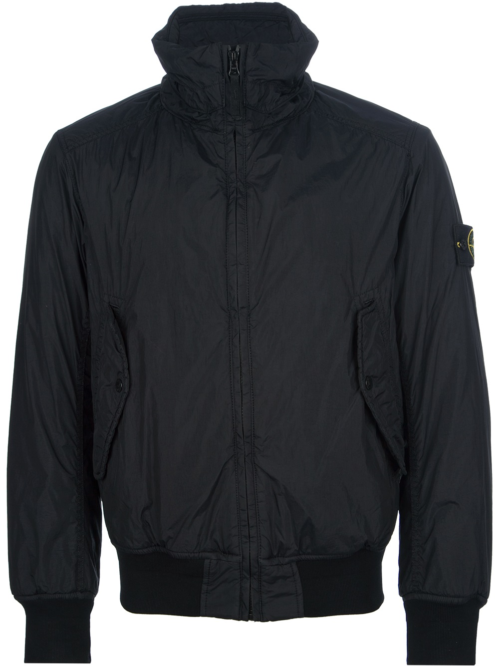 Stone island Bomber Jacket in Black for Men | Lyst