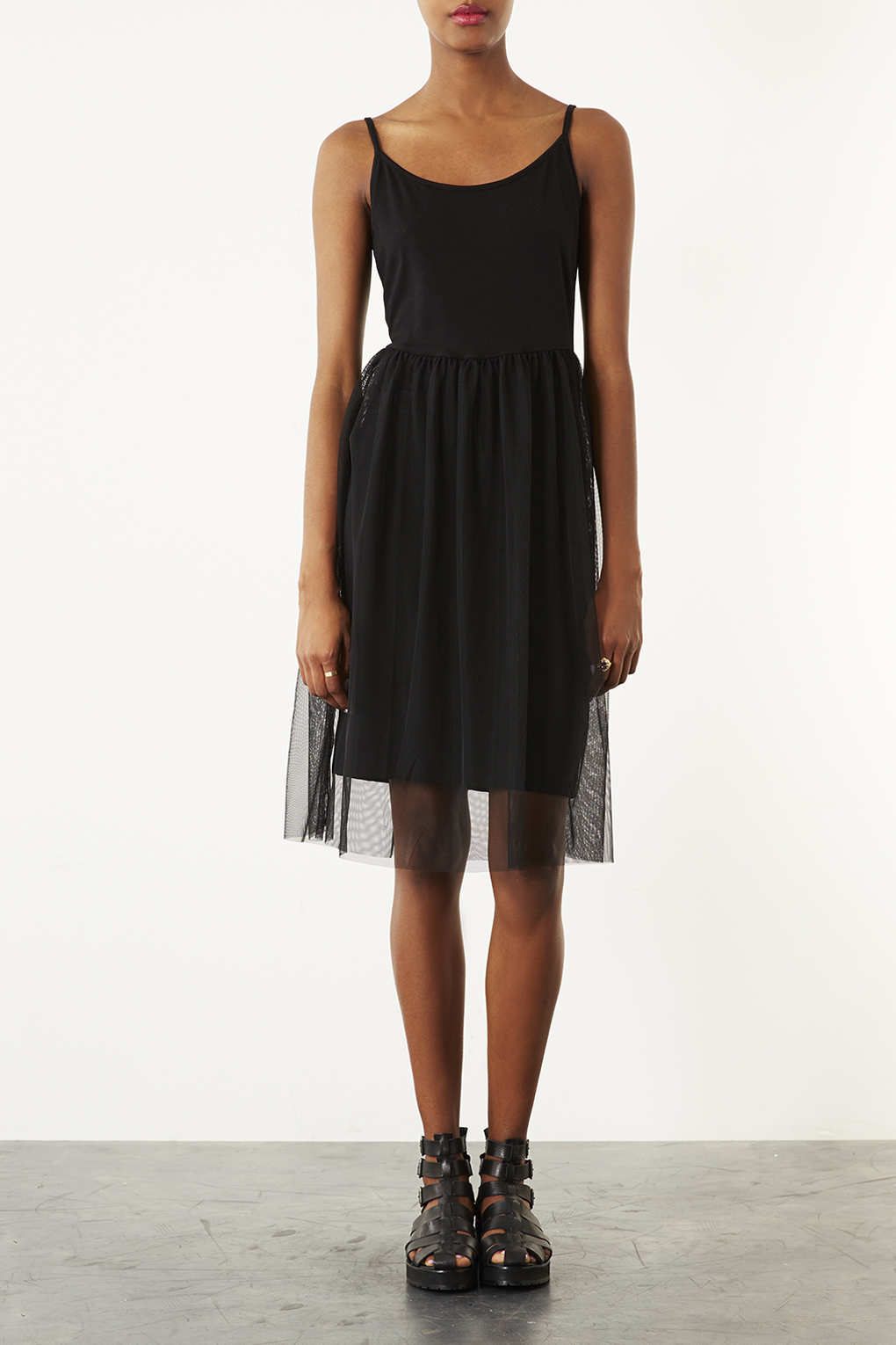 Strappy Tulle Dress