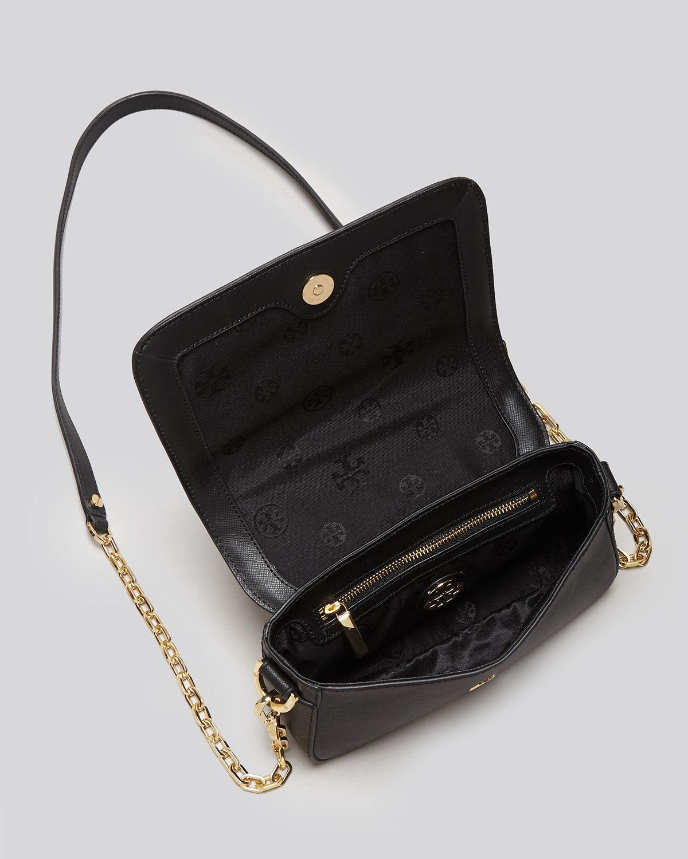 21dd9d2c1c3 ... get lyst tory burch shoulder bag robinson patchwork mini chain in black  ffff7 29a0f