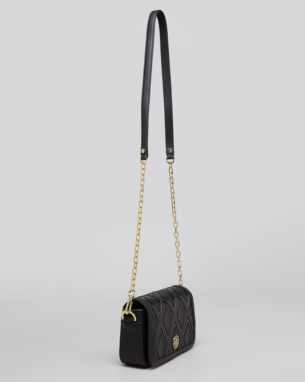 c4effe0f44c Lyst - Tory Burch Shoulder Bag Robinson Patchwork Mini Chain in Black