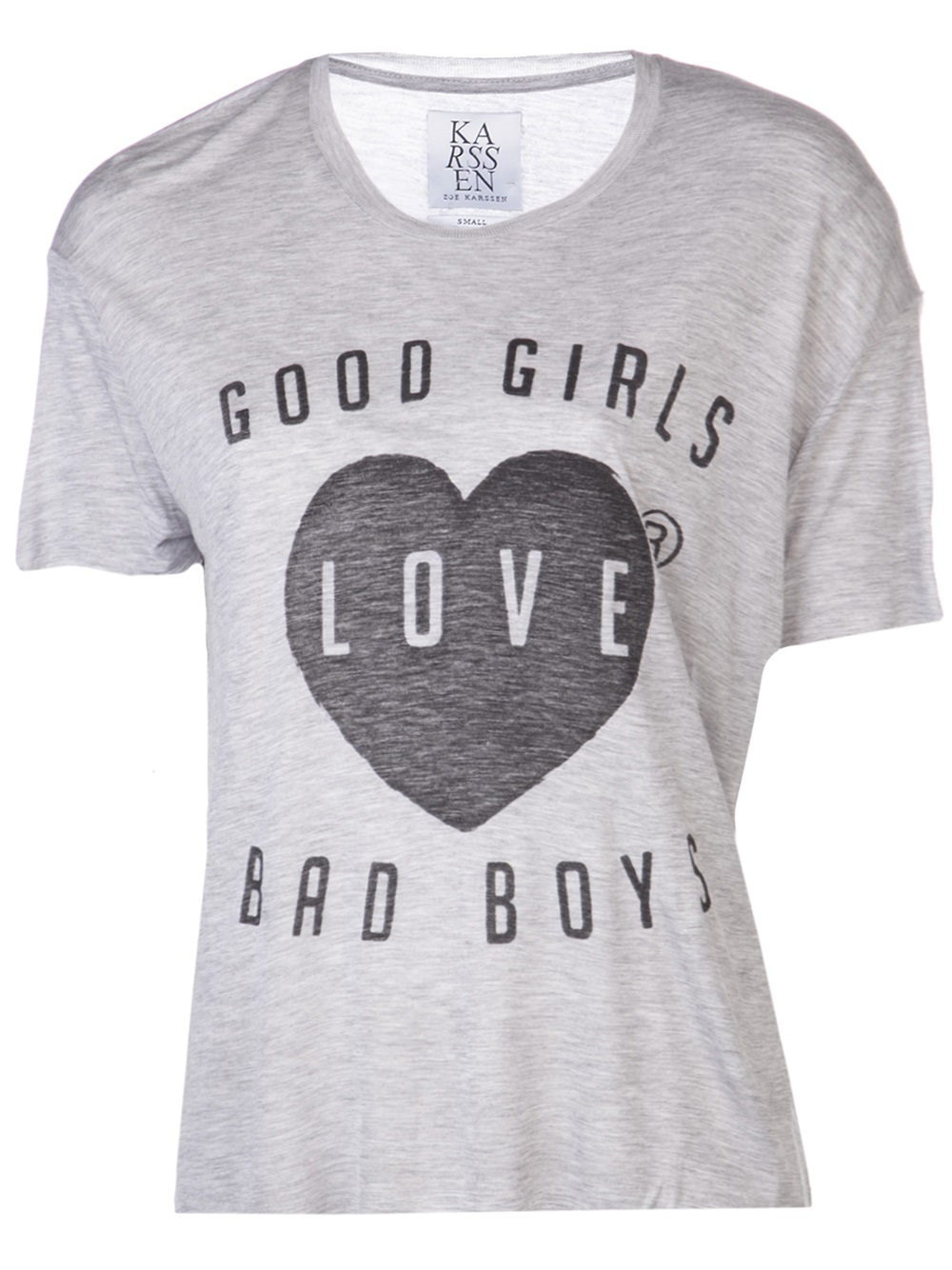 6a470ff0 Zoe Karssen Good Girls Love Bad Boys Tshirt in Gray - Lyst