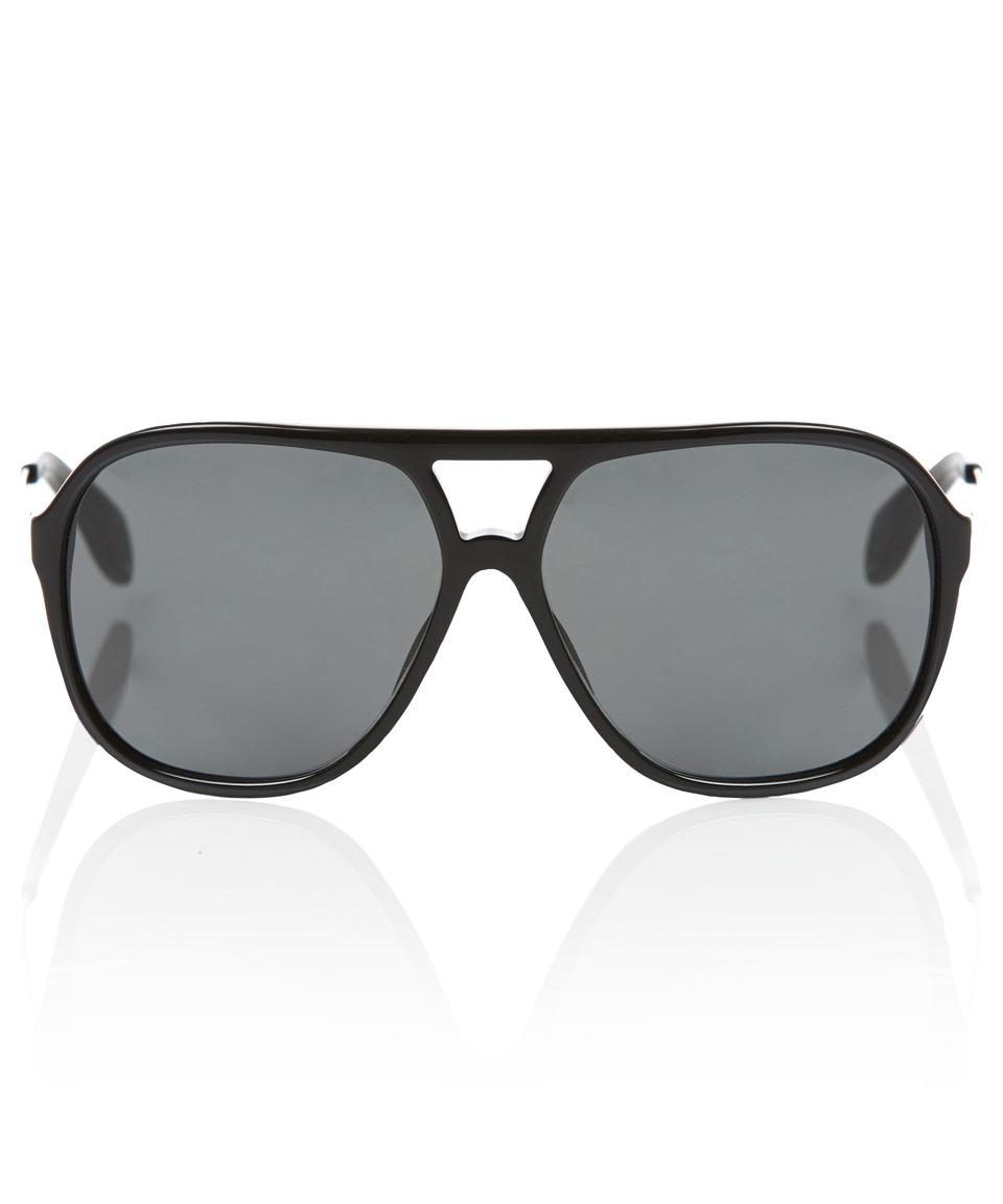 20a65547fa Lyst - Alexander McQueen Aviator Sunglasses in Black for Men
