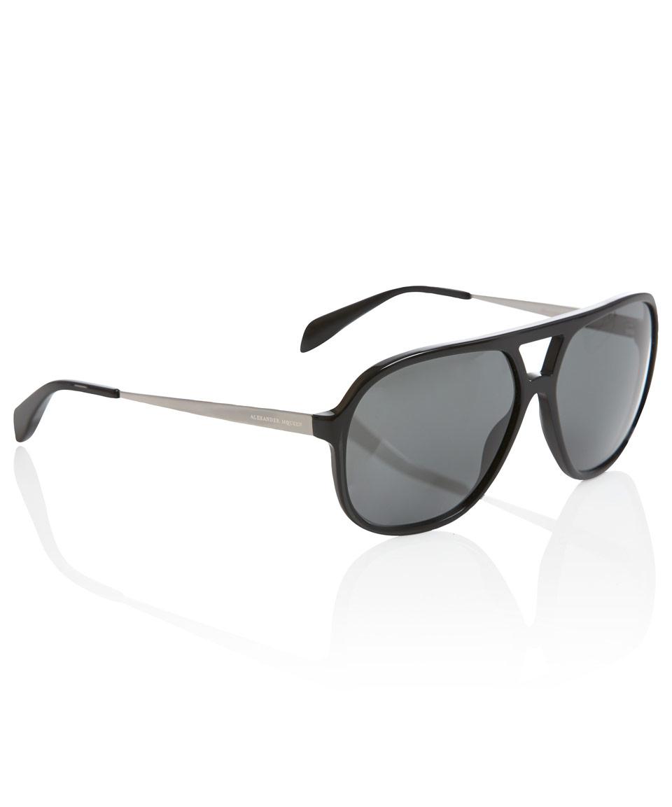 c9c8bc62964 Lyst - Alexander McQueen Aviator Sunglasses in Black for Men
