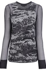 Alexander Wang Sheer Sleeve Sweater - Lyst