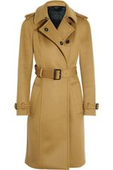 Burberry Prorsum Brushed Cashmere-blend Trench Coat - Lyst