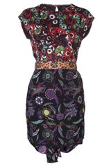 Cher Michel Klein Tie Waist Dress - Lyst
