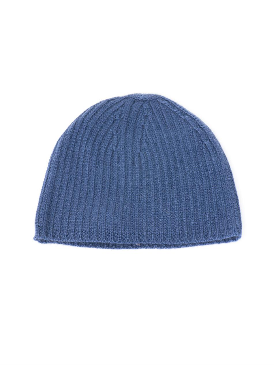 Denis colomb Ribbed Knit Cashmere Beanie Hat in Blue for ...