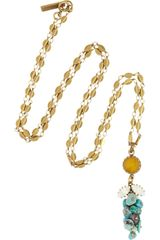 Isabel Marant Turquoise Jade and Swarovski Crystal Necklace - Lyst