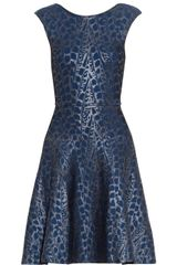 Issa Foil-print Ribbed-knit Dress - Lyst