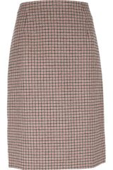 Marc Jacobs Checked Aline Skirt - Lyst