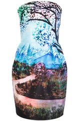 Mary Katrantzou Fauwi Strapless Dress - Lyst
