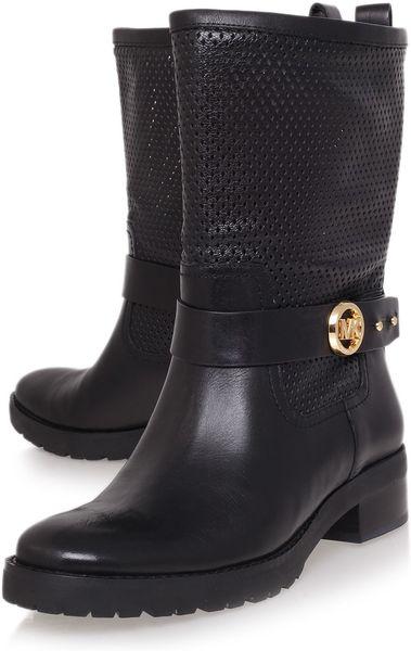michael michael kors flat boot in black lyst