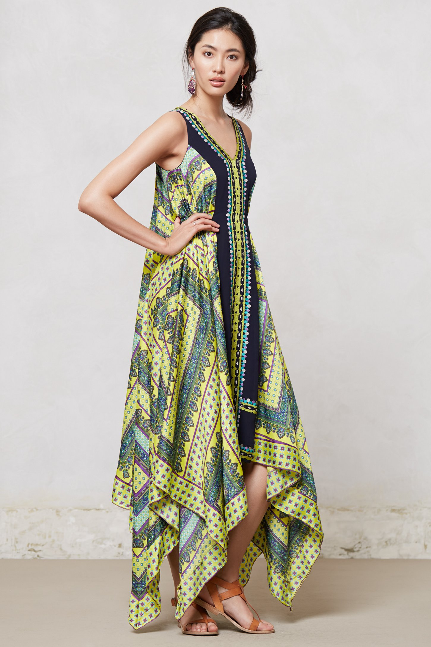 Lyst Ranna Gill Sahila Maxi Dress In Yellow