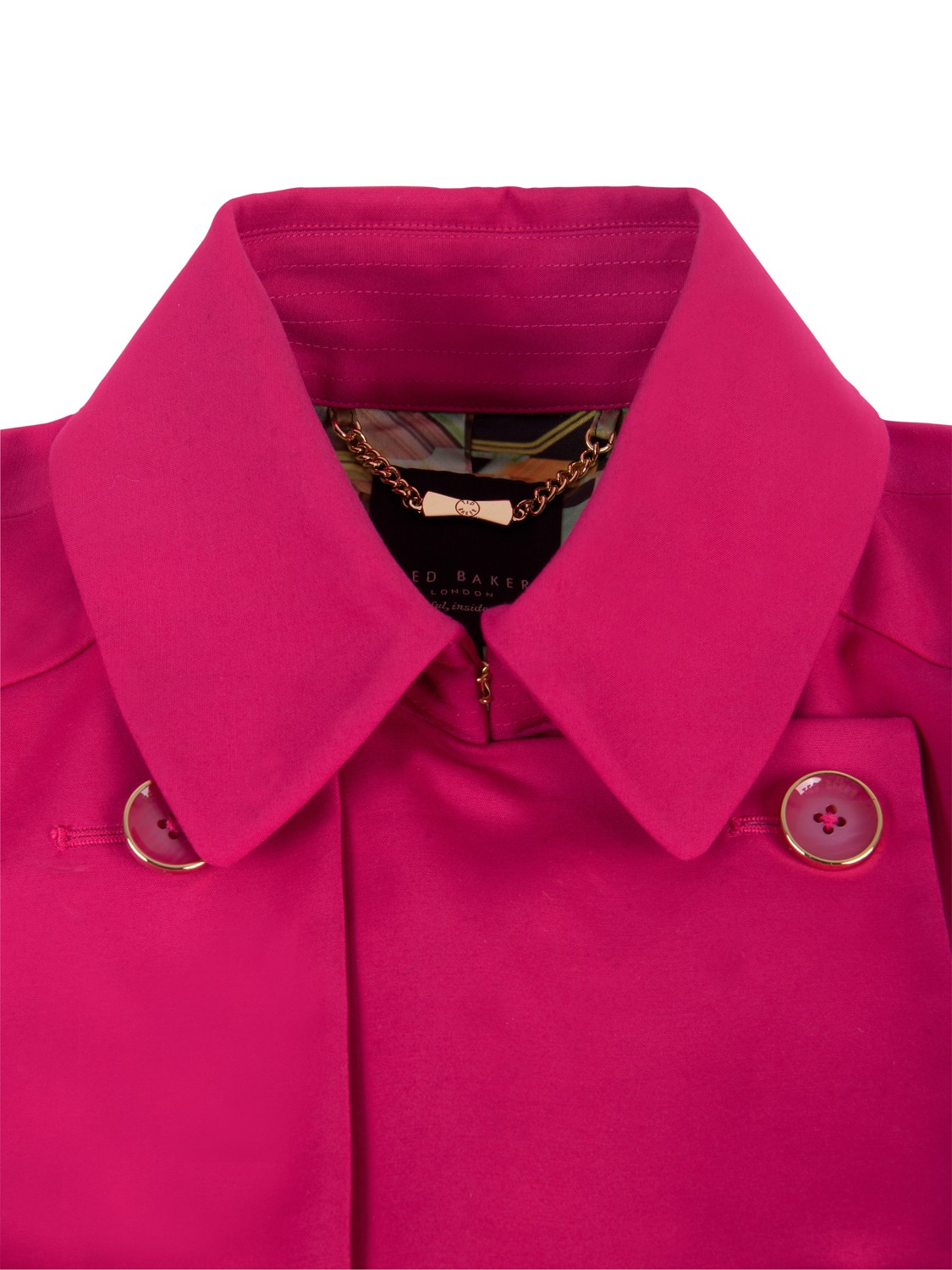 Ted Baker Carisa Double Breasted Belted Trench Coat in Pink - Lyst eb76cbb228