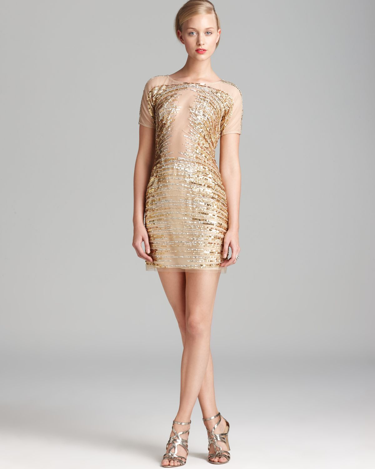 Gold dresses cocktail dresses