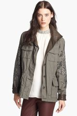 Haute Hippie Studded Washed Ripstop Jacket - Lyst