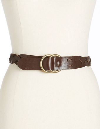 Lauren by Ralph Lauren Braided Leather Belt - Lyst
