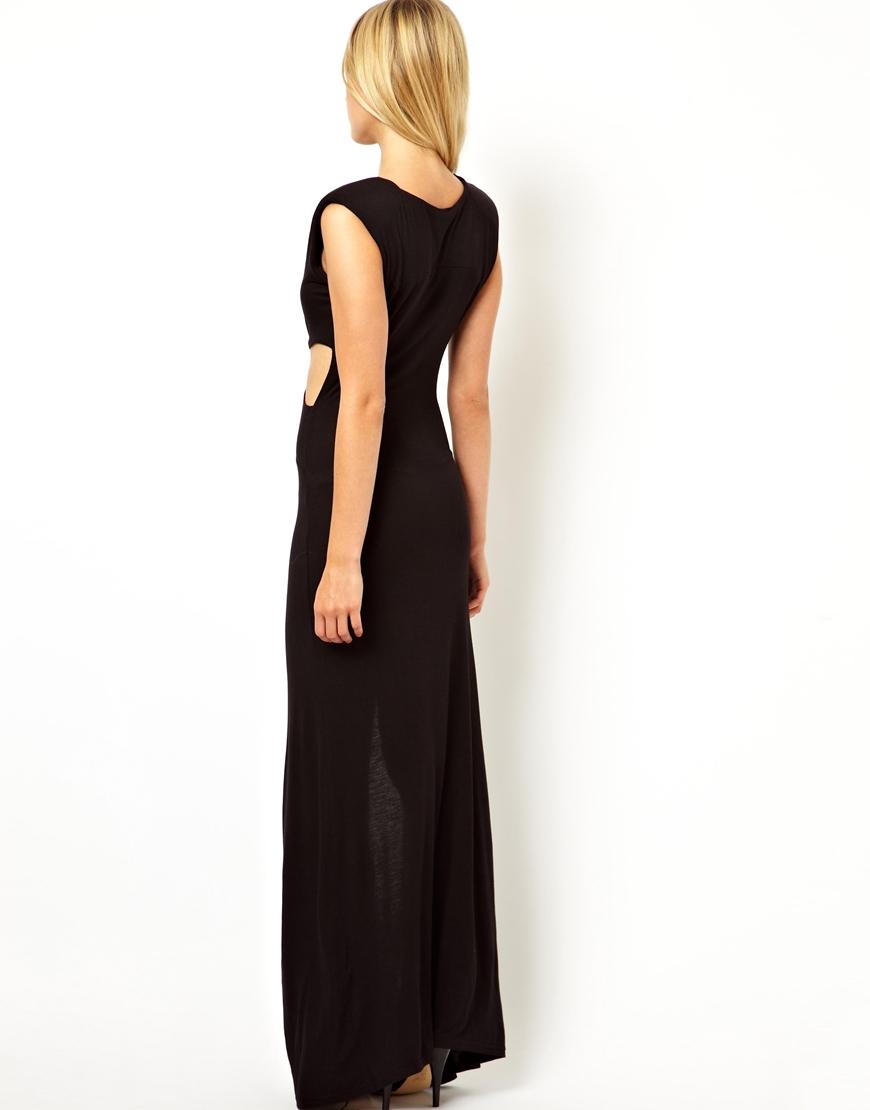 Lyst Love Cut Out Maxi Dress In Black