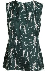Marni Palm Printed Silk Top - Lyst