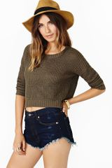 Nasty Gal Solstice Crop Knit - Lyst