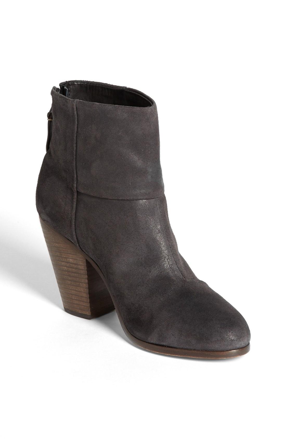 rag bone newbury bootie in black asphalt wax suede lyst