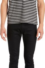 Saint Laurent Striped Tee Shirt - Lyst