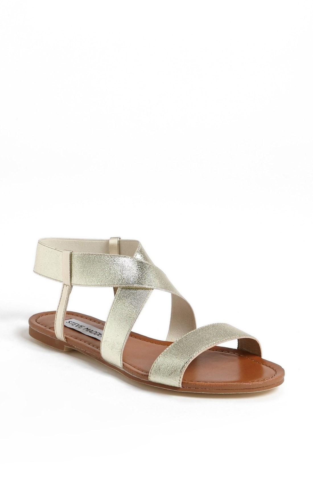 steve madden quake gladiator sandal in silver gold lyst. Black Bedroom Furniture Sets. Home Design Ideas