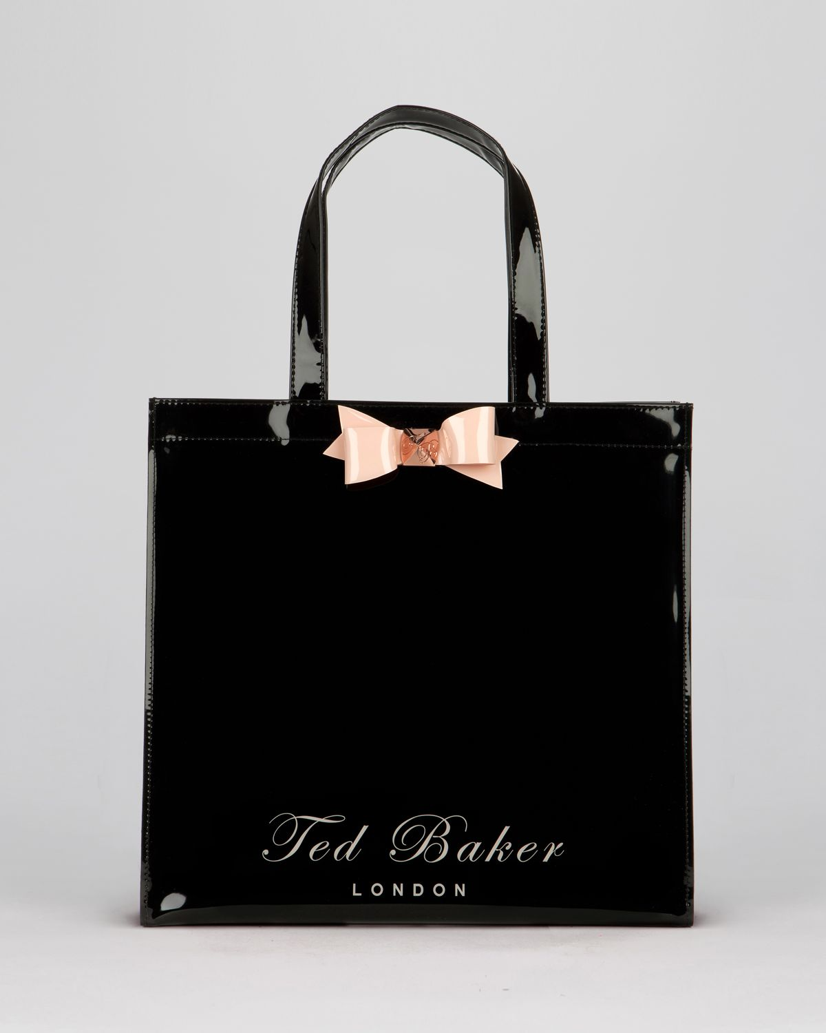 ted baker tote bigcon bow shopper in black lyst. Black Bedroom Furniture Sets. Home Design Ideas