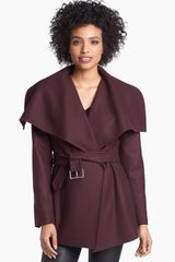 Ted Baker Drape Collar Short Coat - Lyst