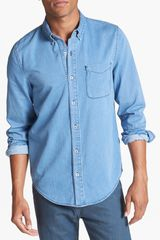 Topman Denim Shirt - Lyst