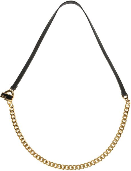 fendi necklace in gold black lyst