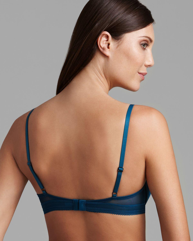 f6348633b5cd46 Lyst - Calvin Klein Bra Launch Tailored Contour in Blue