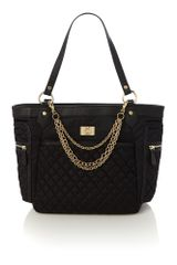 Love Moschino Chains Black Tote Bag - Lyst