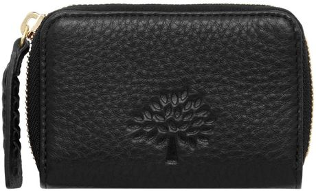 Mulberry Effie Small Zip Around in Black - Lyst