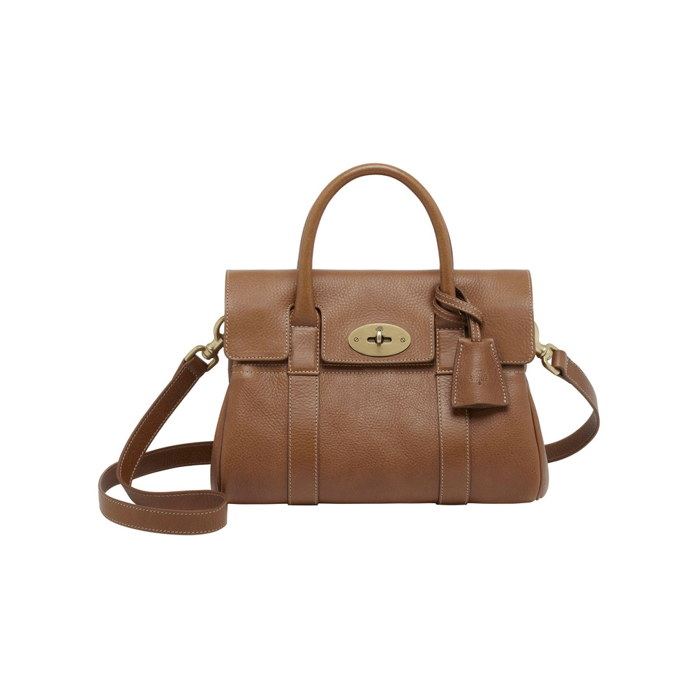 Mulberry small bayswater leather satchel in brown oak lyst for The bayswater