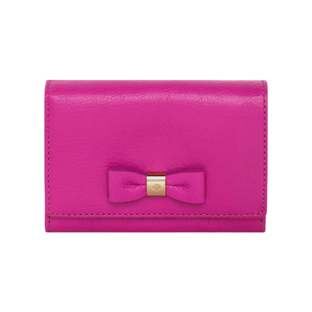 db02188774d ... cheap mulberry bow french purse in pink lyst 32db5 85bb2 ...