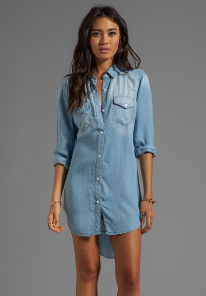 Womens Light Denim Shirt