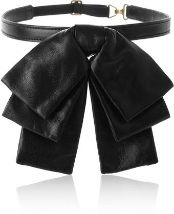 Saint Laurent Bow Leather Collar - Lyst