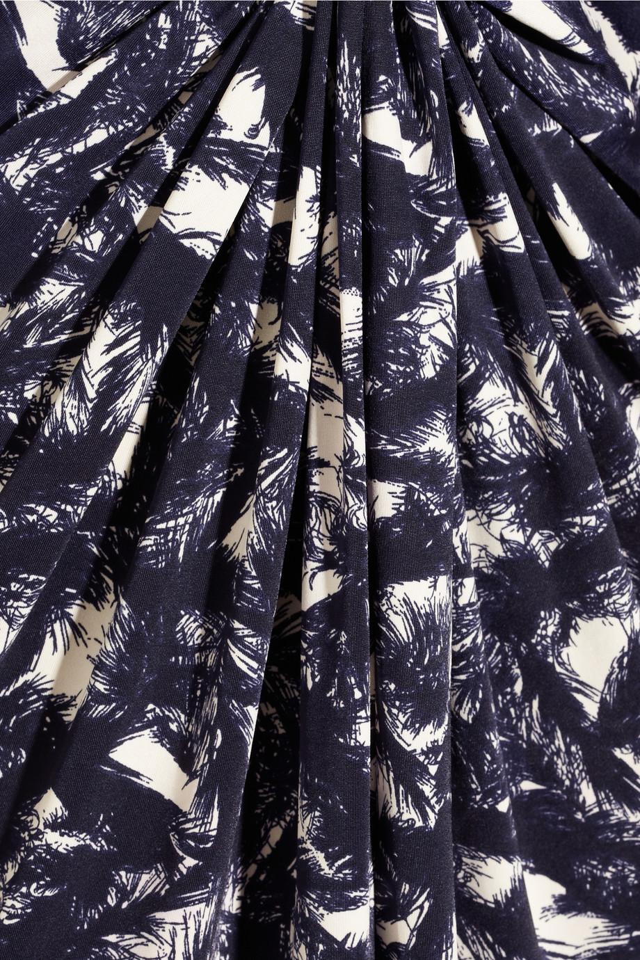 T bags printed satin jersey maxi dress