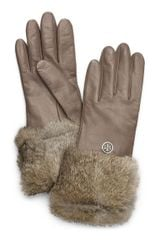 Tory Burch Fur Cuff Glove - Lyst