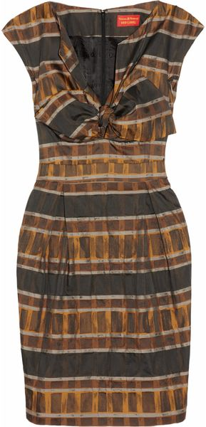 Vivienne Westwood Red Label Plaid Sateentwill Dress - Lyst