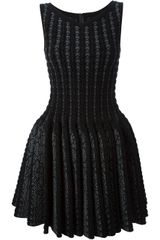 Alaïa Textured Knit Skater Dress - Lyst
