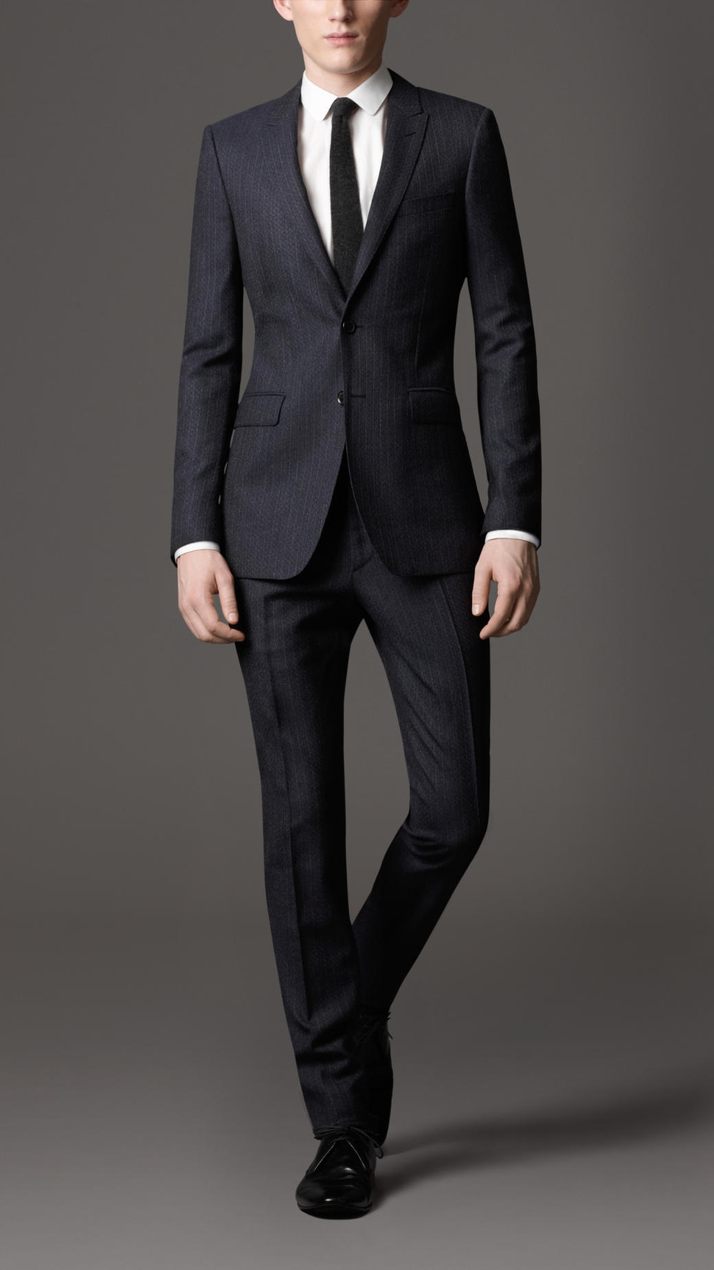 a50333da7d6 Lyst - Burberry Slim Fit Virgin Wool Stripe Suit in Blue .