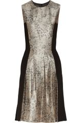 By Malene Birger Kalimi Metallic Jacquard and Stretch-woven Dress - Lyst