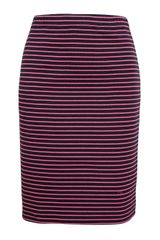 Chinti And Parker Striped Stretch Cotton Miniskirt - Lyst