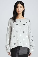 Elizabeth And James Metallic dot Knit Pullover - Lyst